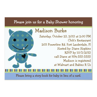 Peek a Boo Monster Baby Shower Invitation