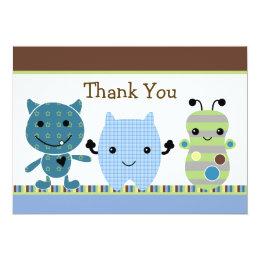 Peek a Boo Monster Baby Shower Thank You Card