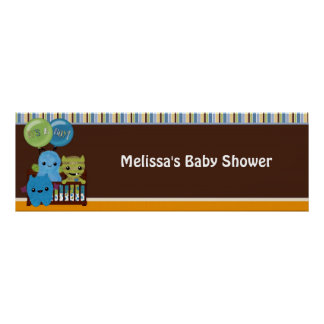 Peek a Boo MONSTERS Baby Shower Banner PABC #3 boy Poster