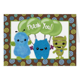 Peek a Boo MONSTERS Thank You PABC note card