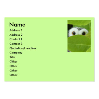 Peek A Boo Owl Large Business Cards (Pack Of 100)
