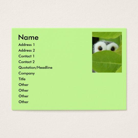 Peek A Boo Owl Business Card