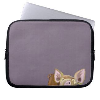 Peek-a-boo Pig Laptop Sleeve