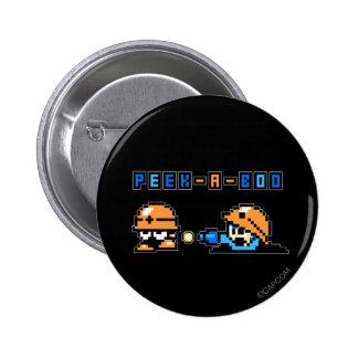 Peek-a-Boo Pinback Button