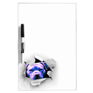 Peek A Boo Pit Bull Dry-Erase Boards