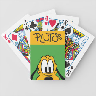 Peek-a-Boo Pluto Bicycle Playing Cards