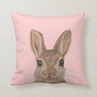 Peek A Boo Rabbit (Pink) Pillow