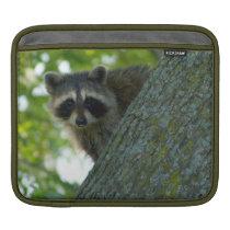 Peek-A-Boo Raccoon iPad Sleeve