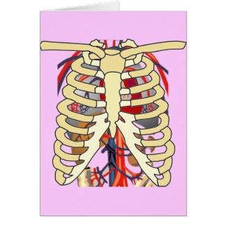 Peek a Boo Ribcage Greeting Card