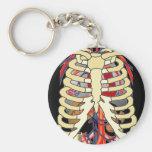 Peek a Boo Ribcage Key Chain