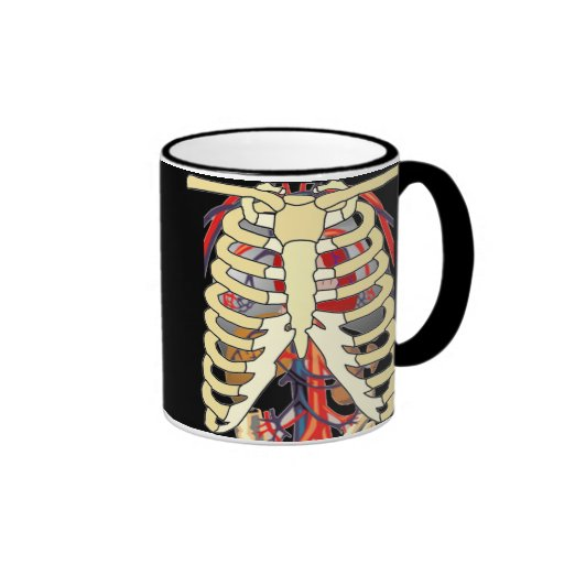Peek a Boo Ribcage Ringer Mug
