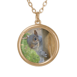 Peek-a-Boo! Round Pendant Necklace