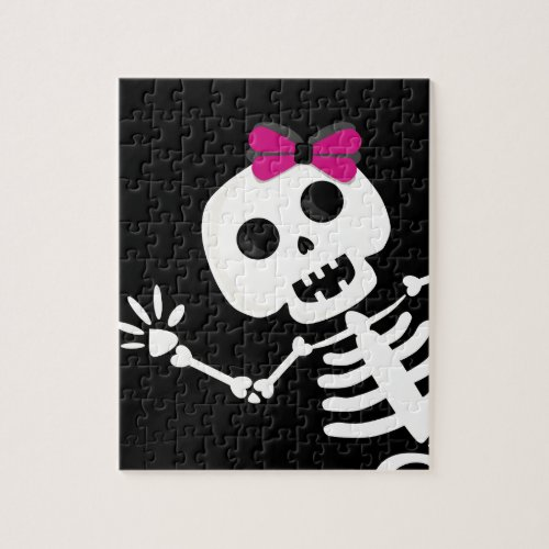 peek a boo skeleton jigsaw puzzle