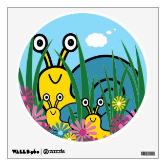 Peek-A-Boo Snails Wall Decal - Cute Snail Family
