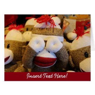 Peek-a-boo Sock Monkey Card