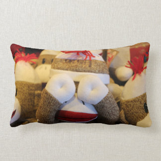 Peek-a-boo Sock Monkey Lumbar Pillow