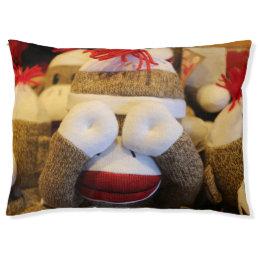 Peek-a-boo Sock Monkey Pet Bed