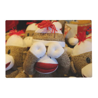 Peek-a-boo Sock Monkey Placemat