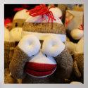 Peek-a-boo Sock Monkey Poster
