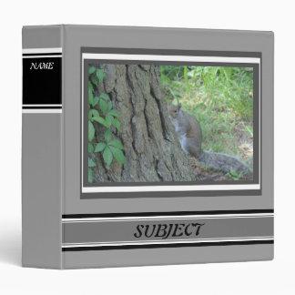 Peek A Boo Squirrel - 3 Ring Binders