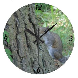 Peek A Boo Squirrel - Wall Clocks
