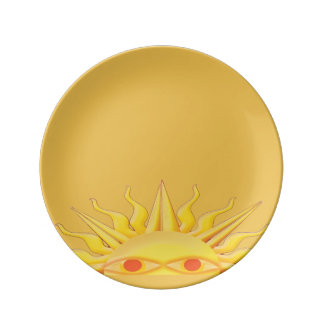 Peek-a-boo sun plate