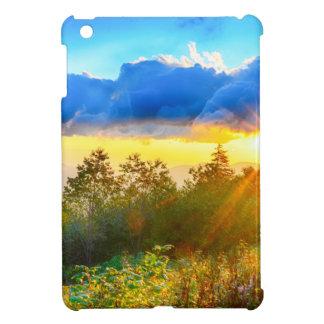 peek-a-boo sunrise in mountains iPad mini case