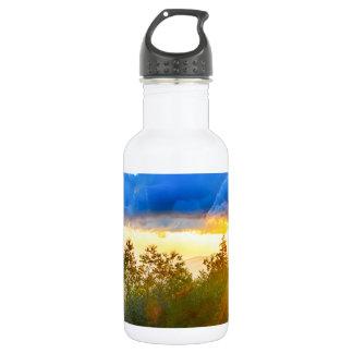 peek-a-boo sunrise in mountains stainless steel water bottle