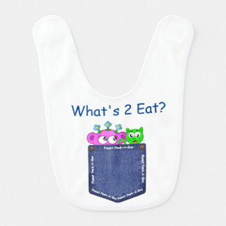 Peek-A-Boo- What's 2 Eat? Baby Bib