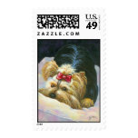 Peek a Boo Yorkie Yorkshire Terrier Postage Stamps
