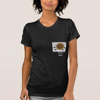 'peek a moo' highland cow t-shirts