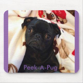 Peek-A-Pug Mouse Pad