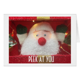 PEEK AT YOU-SANTA SAYS-AND MISTLETOE, TOO! CARD