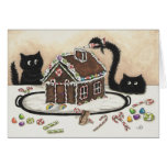 Peek & Boo Black Cat Christmas Card by Bihrle