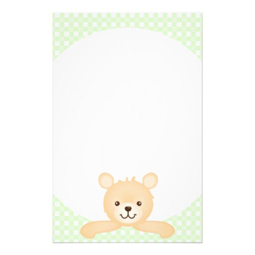 PeekaBear Note Pad Custom Stationery