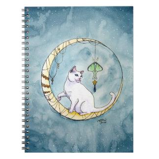Peekaboo and the Luna Moth Spiral Notebook