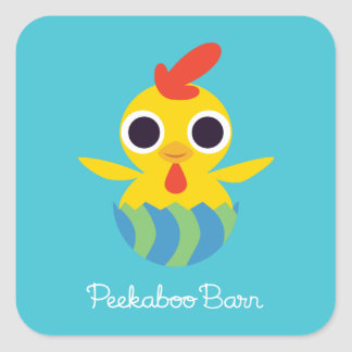 Peekaboo Barn Easter | Bandit the Chick Square Sticker