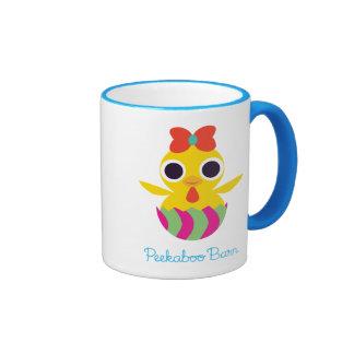 Peekaboo Barn Easter   Bayla the Chick 2 Ringer Mug