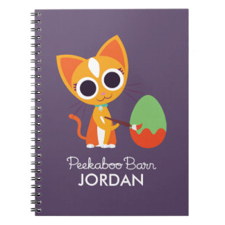 Peekaboo Barn Easter | Purrl the Cat Notebook