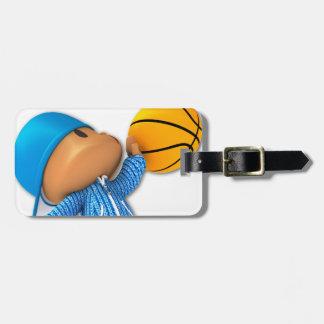Peekaboo Basketball Bag Tags