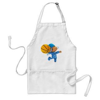 peekaboo basketball swish 02 adult apron