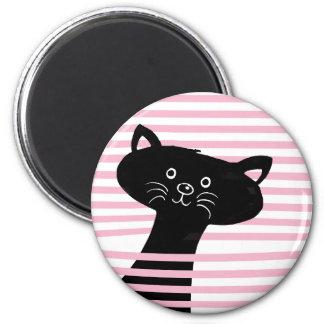 Peekaboo! Cute Black Cat Magnet