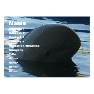 Peekaboo del delfín de Irrawaddy Tarjetas De Visita Grandes
