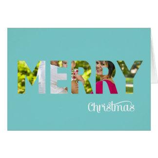 Peekaboo elegante de la tarjeta de Navidad de la f