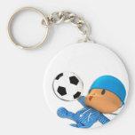 Peekaboo football keychains