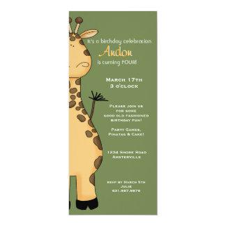 Peekaboo Giraffe Invitation
