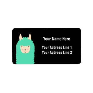Peekaboo Happy Llama Address Labels