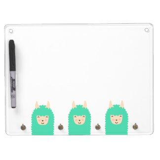 Peekaboo Happy Llama Dry Erase Board