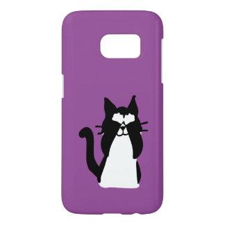 Peekaboo Kitty Cat Covering Eyes Samsung Galaxy S7 Case
