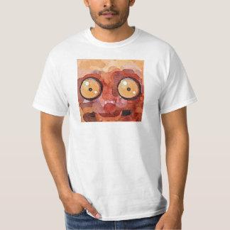 Peekaboo Lemur Painting Men's T-shirt (White)